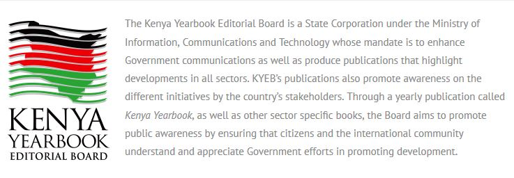 Kenya Year Book jobs up for grabs