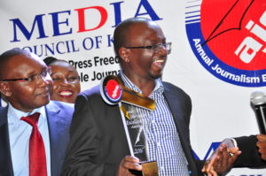 John Kamau, AJEA 2016 overall winner