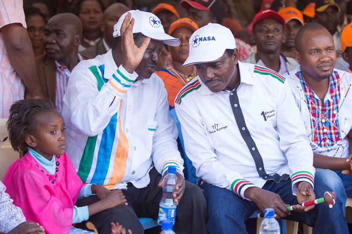 Raila it is for NASA Flag bearer