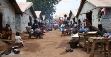 Ben Zvi IDP camp at the morning. 2000 people are living here for three years. Teant can contain 40 people.