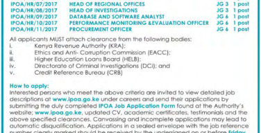 Job Vacancies At IPOA