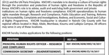 KNCHR Jobs