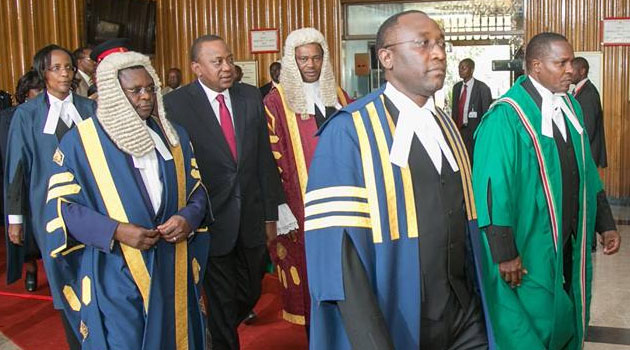 Supreme Court Judges,Opposition skip Uhuru's Parliament Address