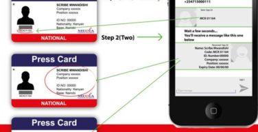Press card Verification in Kenya