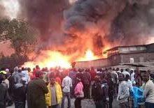 Gikomba Market In Nairobi on Fire