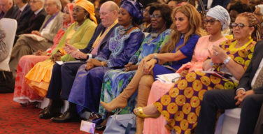 L-R FL-Chad, FL -Niger, Dr Frank, FL-Guinea, FL-CAR, Rasha Kelej, FL-Gambia, Chairperson of the National Council-Namibia