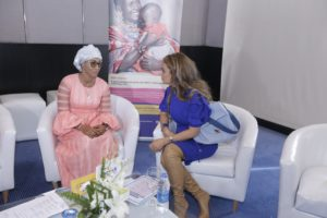 L-R First Lady of Gambia and Dr. Rasha Kelej