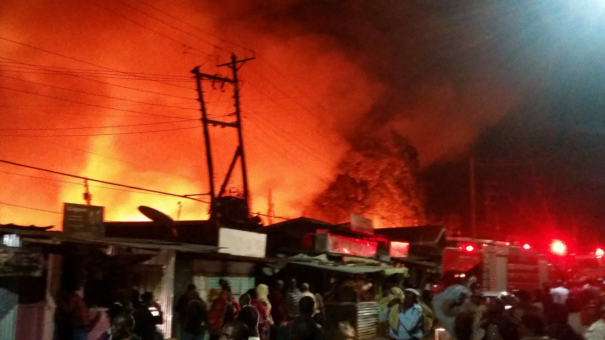 Raging Lang'ata fire left four dead,thousands homeless