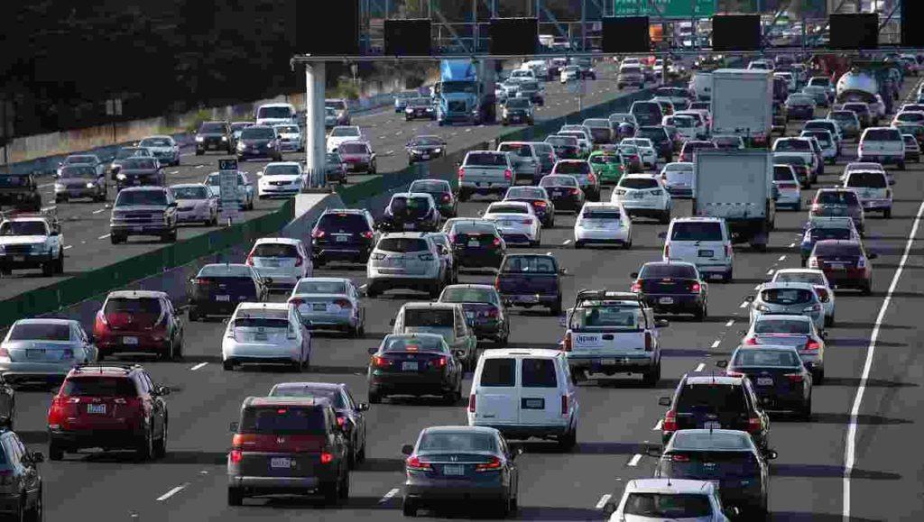 Heavy traffic jam