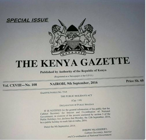 Why Monday is a public holiday in Kenya