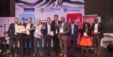 Cellulant's Ken Njoroge (pictured far right) with the winners of the African FinTech 2016 in Johanesburg, South Africa at the conclusion of the Awards.