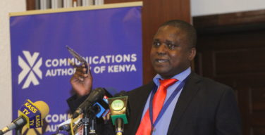 Victor Bwire, Deputy CEO, Media Council of Kenya at a past funnction