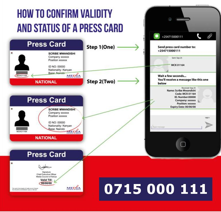 How to acquire, verify a press card in Kenya