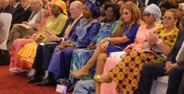 L-R FL-Chad, FL -Niger, Dr Frank, FL-Guinea, FL-CAR, Rasha Kelej, FL-Gambia, Chairperson of the National Council-Namibia