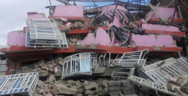 Collapsed Kakamega building