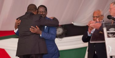 Uhuru hugs Raila, beyond the handshake