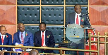 Henry Rotich reading the budget speech in the National Assembly