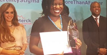 Stephanie Odhiambo, Merck More Than A Mother award winner on July 9, 2018