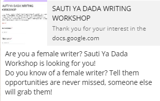 Opportunity for female writers