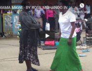 Rose muhando Mama Mkwe song dramatised in the streets of Nairobi