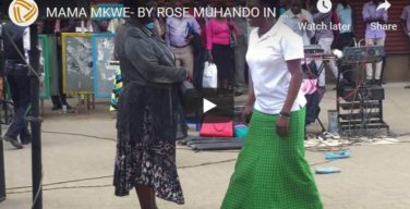 Rose muhando Mama Mkwe song dramatised in the streets of Nairobi