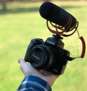 Use external mic for clean audion on Canon EOS M50n Canon M50